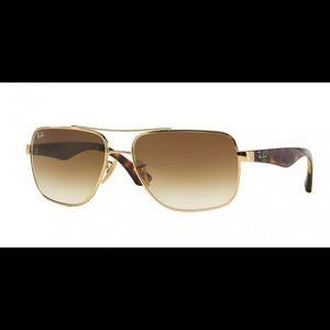 Ray Ban 3483 Gold/Brown Sunglasses!